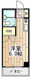 神奈川県厚木市元町の賃貸マンションの間取り