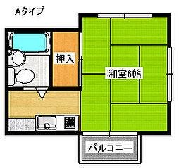 メゾン美也I[1階]の間取り