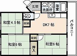 城元マンション[4階]の間取り