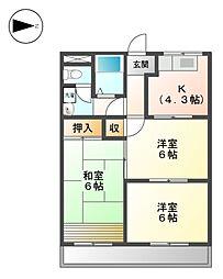 MIO BLD[2階]の間取り