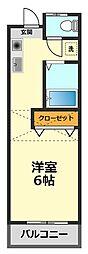 東京都江戸川区鹿骨2丁目の賃貸マンションの間取り