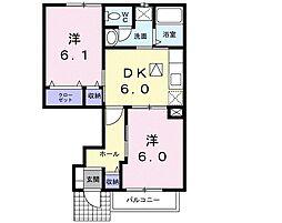 茨城県土浦市神立町の賃貸アパートの間取り