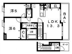 仮)東老原1丁目アパート[203号室号室]の間取り