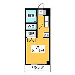 サテライト三共[4階]の間取り