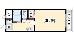 HU岩屋ハイツ[4階]の間取り
