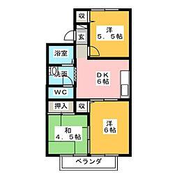 コーポグレイス[2階]の間取り