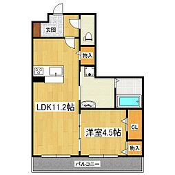 ヴァンクレール[2階]の間取り
