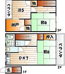 田原タウンハウス[3階]の間取り