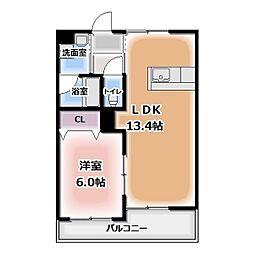 グレースコート神戸[206号室]の間取り