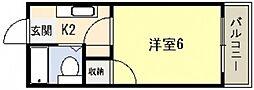 ホワイトパレス長束[2階]の間取り
