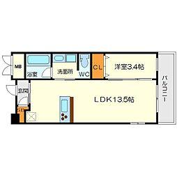 サニーサイド240[5階]の間取り