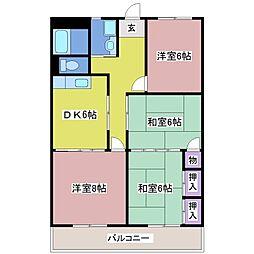 安富マンション[1階]の間取り