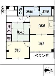 ハミング22[3階]の間取り