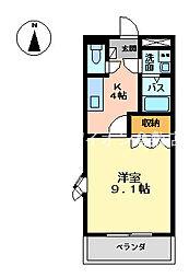 岡山県倉敷市福田町古新田の賃貸マンションの間取り