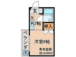京都府京都市伏見区新町1丁目の賃貸マンションの間取り