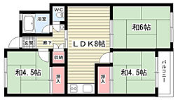 大阪府豊中市柴原町5丁目の賃貸マンションの間取り