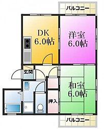 東京都江戸川区東葛西2丁目の賃貸マンションの間取り