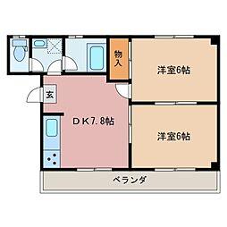 安達マンション[3階]の間取り
