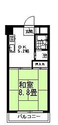 アバンセ福岡第一ハイツ[203号室]の間取り