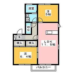 ファミリー坂・富 B棟[1階]の間取り