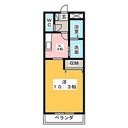 エクレールKAWAI[1階]の間取り