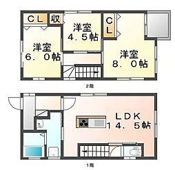 [一戸建] 広島県福山市新涯町5丁目 の賃貸【/】の間取り