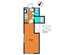 ロッシェル3[2階]の間取り