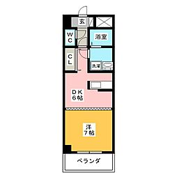 ルミエール青山8[6階]の間取り