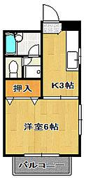 ライトハウス[2階]の間取り