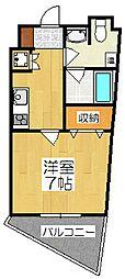 京都府京都市南区東九条河辺町の賃貸マンションの間取り