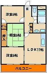 シティハイツII[1階]の間取り