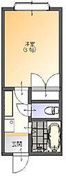 サンライズII[1階]の間取り