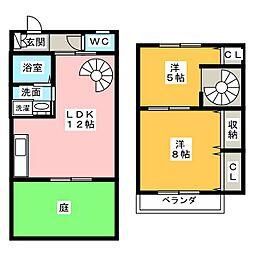 [テラスハウス] 愛知県名古屋市西区大野木2丁目 の賃貸【愛知県 / 名古屋市西区】の間取り