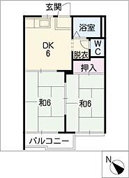 サンビレッジB棟[1階]の間取り