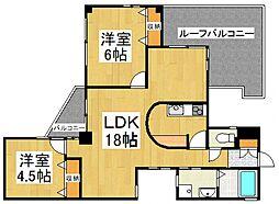 JUNハイツ志木[4階]の間取り