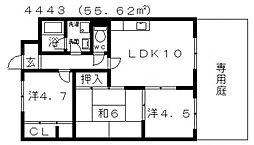 ディアコート藤井寺[103号室号室]の間取り