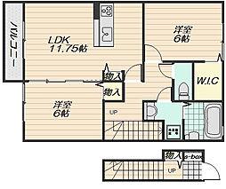 サンヒル(大町西)[2階]の間取り