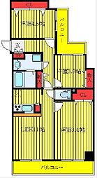 都営三田線 西巣鴨駅 徒歩8分の賃貸マンション 3階3LDKの間取り