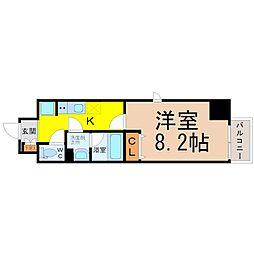 パークフラッツ新栄[5階]の間取り