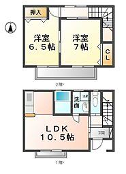[テラスハウス] 愛知県あま市上萱津八剱 の賃貸【/】の間取り