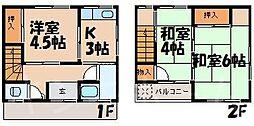 [テラスハウス] 広島県広島市安芸区矢野西2丁目 の賃貸【/】の間取り