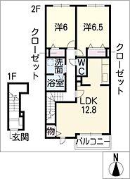 ツールマレーII[2階]の間取り