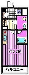 サンセール与野本町[2階]の間取り