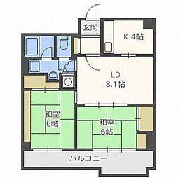 シーアイマンション円山西棟[11階]の間取り