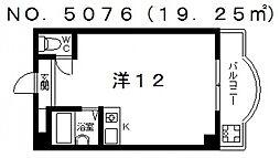アンヘルム杭全[3A号室号室]の間取り