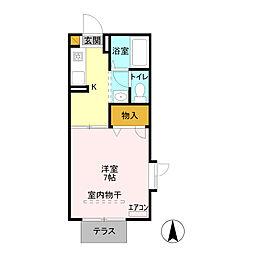 フォレスト田中[1階]の間取り