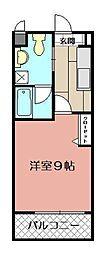 ギャラン吉野町[1107号室]の間取り