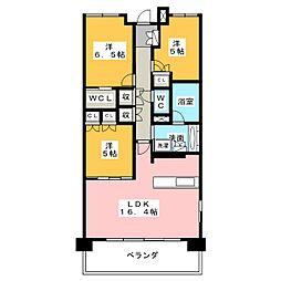 愛知県名古屋市西区二方町の賃貸マンションの間取り