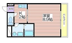 兵庫県姫路市南条の賃貸アパートの間取り