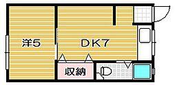 関山ビル[3階]の間取り